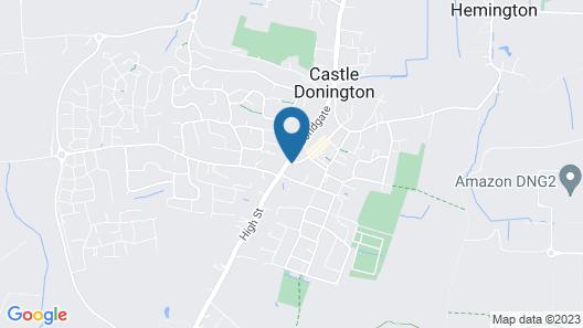 Donington Manor Hotel Map