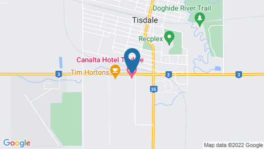 Tisdale Canalta Hotel Map