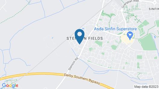 Birchover Chartley Road Map