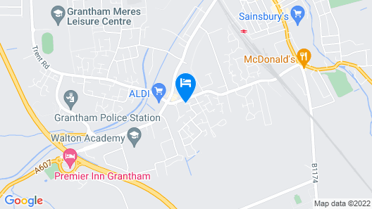 Professional Apartments Grantham Map