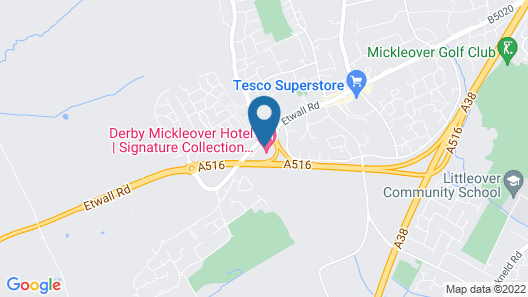 Derby Mickleover Hotel, BW Signature Collection Map