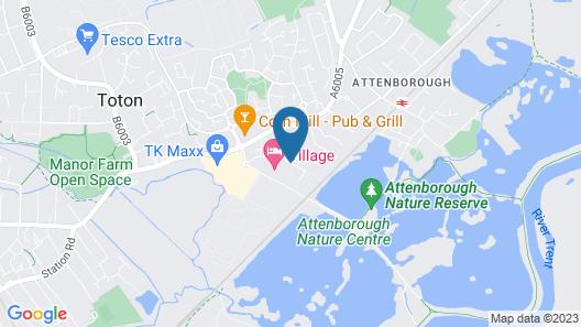 Village Hotel Nottingham Map