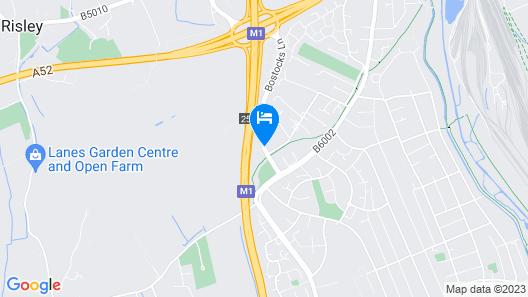 Best Western Nottingham Derby Map