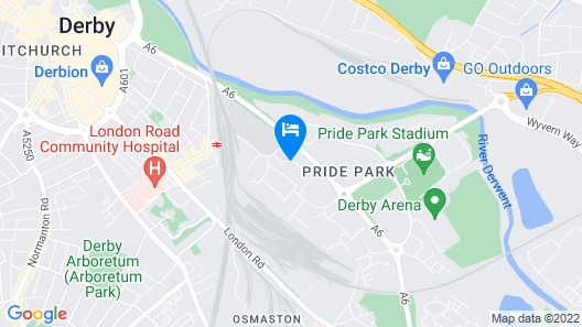 Holiday Inn Express Derby Pride Park Map
