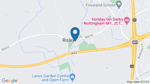 Risley Hall Hotel Map
