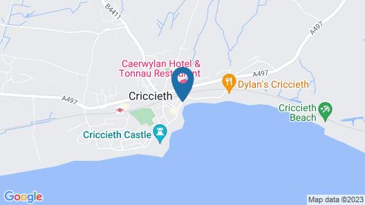 CAERWYLAN HOTEL Map