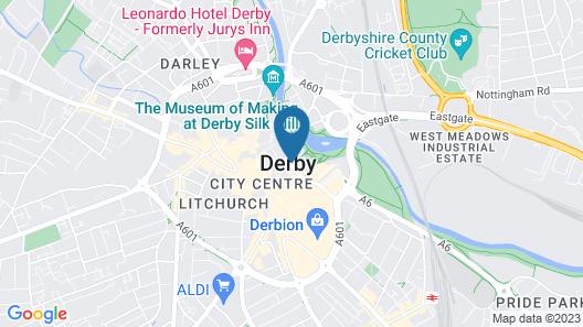 Holiday Inn Derby Riverlights Map