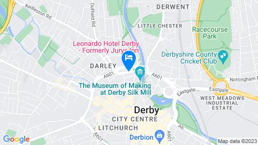 Jurys Inn Derby Map