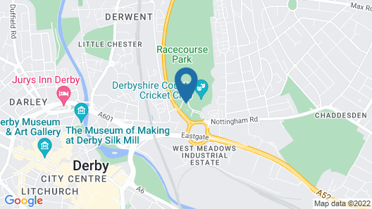 Travelodge Derby Cricket Ground Map