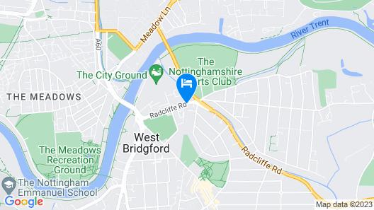 Gamston Lock, Nottingham by Marston's Inns Map
