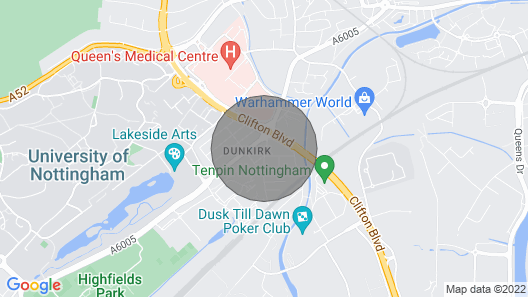 Modern 2 bed Apartment Near City Centre & Hospital Map