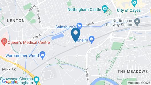 Holiday Inn Nottingham Map