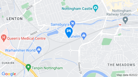 Holiday Inn Nottingham Map