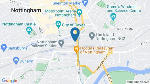 Jurys Inn Nottingham Hotel Map