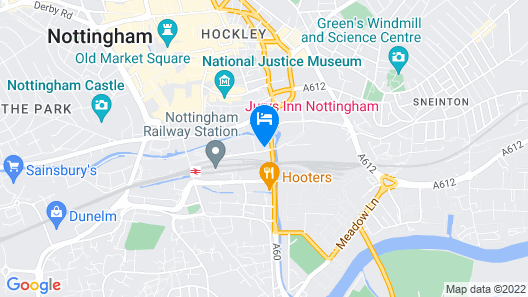 Jurys Inn Nottingham Hotel Map