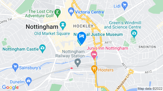 Lace Market Hotel by Compass Hospitality Map
