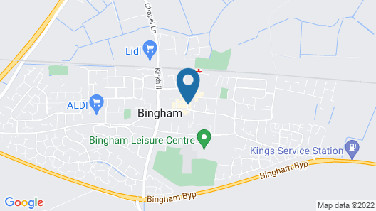 The Bingham Townhouse Map