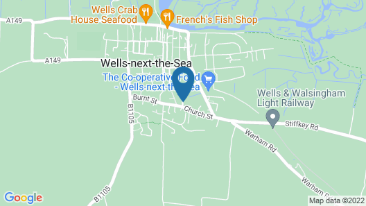 YHA Wells-next-the-Sea - Hostel Map