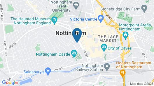 Britannia Nottingham Hotel Map