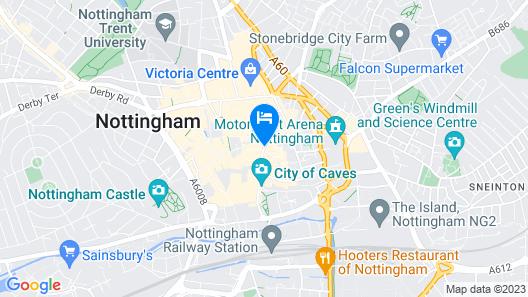 ibis Nottingham Centre Map