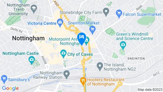 PREMIER SUITES Nottingham Map