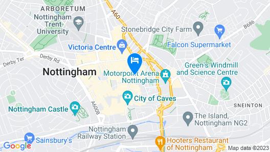 Mercure Nottingham City Centre George Hotel Map