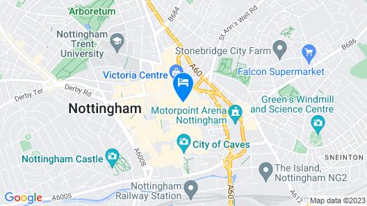 Huku Kwetu Nottingham - Crusader Mezzanine Map