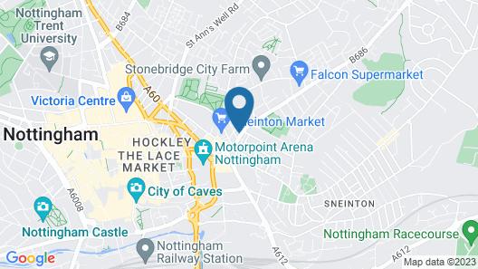 Arena Apartments Map