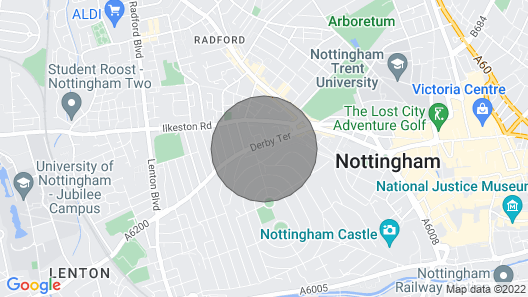 Luxury Town House -the Park Nottingham Map