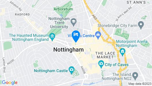 Crowne Plaza Nottingham Map