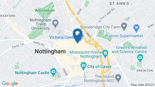 Hilton Nottingham Map