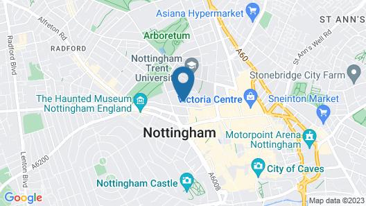 Roomzzz Nottingham City Map