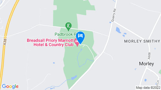 Breadsall Priory Marriott Hotel & Country Club Map