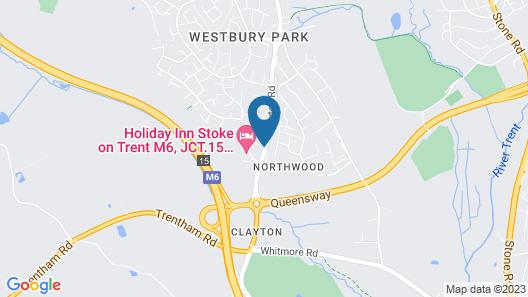 Holiday Inn Stoke on Trent M6, Jct 15 Map