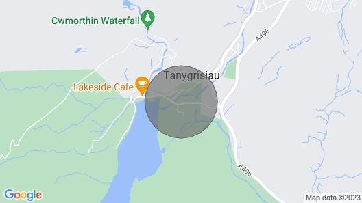 Bwthyn Ger Afon Map