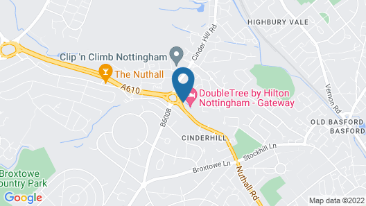 DoubleTree by Hilton Hotel - Nottingham Gateway Map