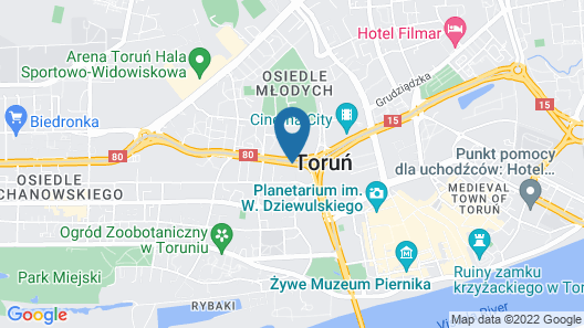 Hotel Mercure Torun Centrum Map