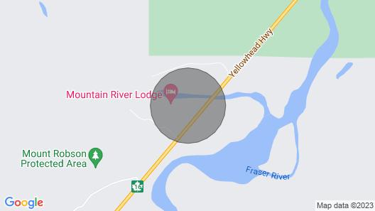 Natural Log Lodge in Mt. Robson Park Near Jasper National Park, Alberta Map