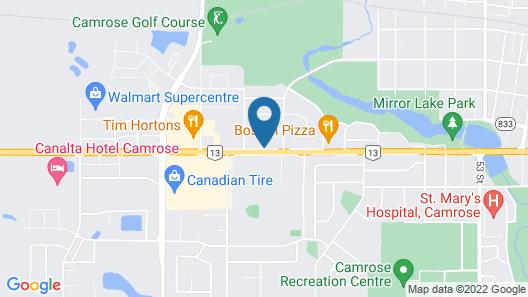 Motel 6 Camrose, AB Map