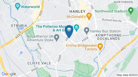 Hilton Garden Inn Stoke-on-Trent Map