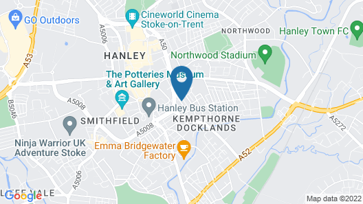 Inspired Stays City Centre Location Map