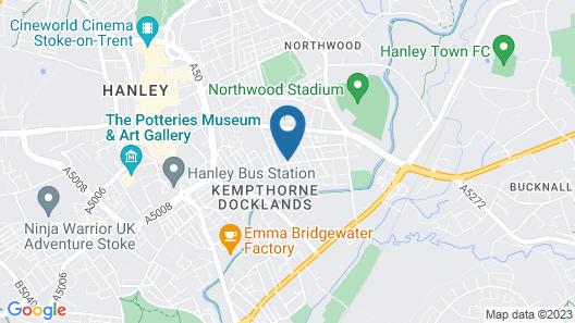 Townhouse @ 51 Balfour St -stoke Map