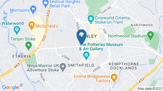 Best Western Stoke on Trent City Centre Hotel Map
