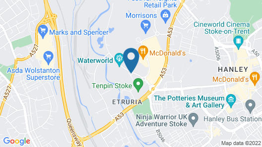 DoubleTree by Hilton Stoke on Trent Map