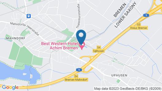 Best Western Hotel Achim Bremen Map