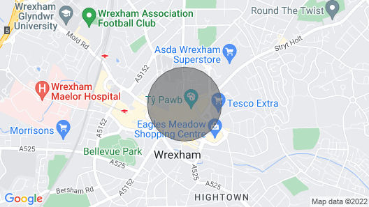 Wrexham Central Stay Apartment Six Map