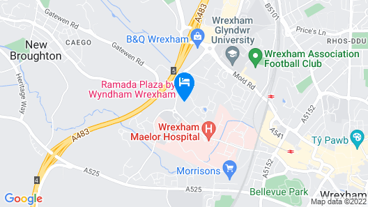 Ramada Plaza by WyndhamWrexham Map
