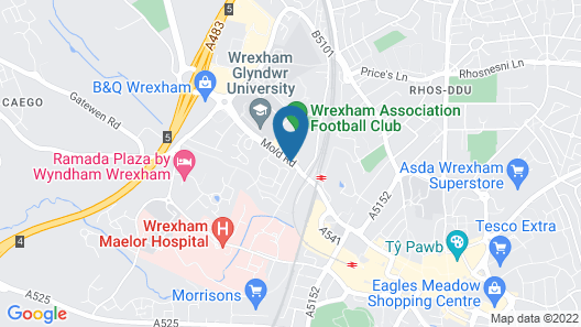 Racecourse View 2 BD Wrexham Town Centre Map