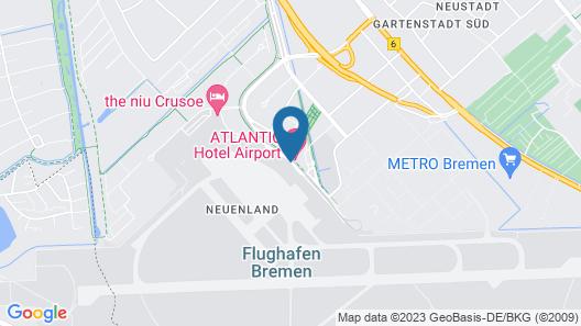 ATLANTIC Hotel Airport Map
