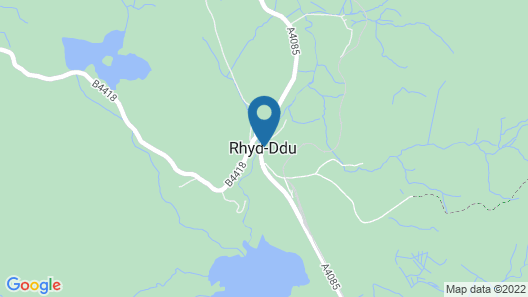 Cefnan, Rhyd-ddu, Snowdonia Map
